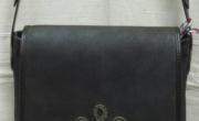 Kis tarisznya, zsinór díszítéssel, mérete: 24x26x8 cm